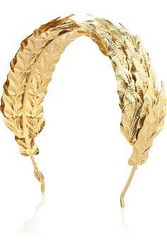 Louis Mariette Caesar gold leaf headband. On sale $202.50