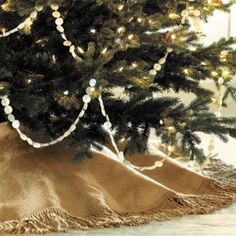 Fringed Burlap Tree Skirt