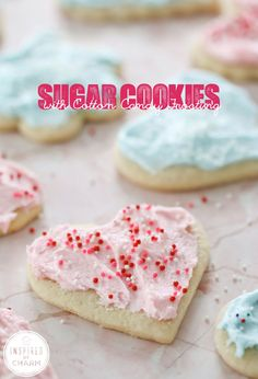 Sugar Cookies with Cotton Candy Frosting | Inspired by Charm charm, sugar cooki, cotton candy, candi frost, cotton candi, valentine day, food, frosting recipes, dessert