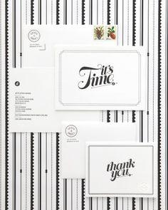 black and white Invitations