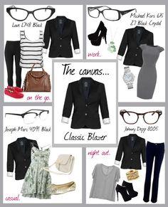 Glasses fashion | How to style a blazer. Coastal.com