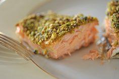 Pistachio Encrusted Salmon    http://www.northendfish.com/recipes/pistachio-crusted-salmon/