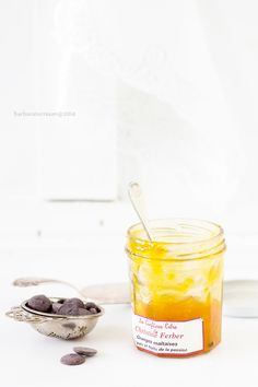 panna cotta with chocOlate mango jam & toasted almonds