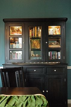 book display decor, diy ideas, books, book displays, bookcases, china cabinets, dream, cupboards, hous