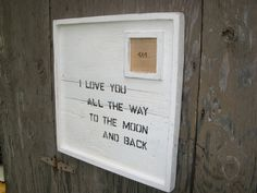 Reclaimed Wood Sign with 4x4 Photo by toddmanring on Etsy, $120.00