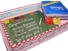 Teacher Retirement cake by Jenn123