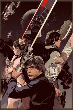 Star Wars - Return of the Jedi by Vincent Rhafael Aseo star wars return of the jedi, vincent rhafael, behance, awesom art, stars, starwar, altern poster, rhafael aseo, galaxi