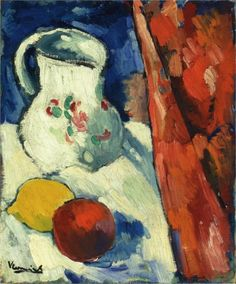 Still Life with Pitcher and Fruit by Maurice de Vlaminck