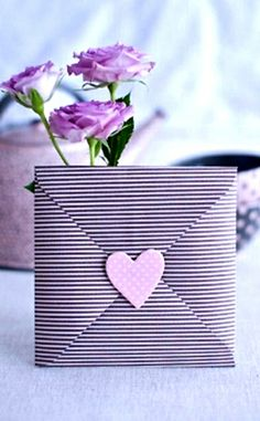 #DIY #crafts #Valentine's Day #pink #giftwrapping ideas ToniK ⓦⓡⓐⓟ ⓘⓣ ⓤⓟ