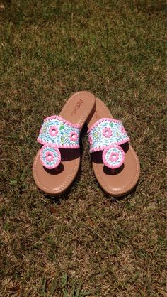 Lilly Pulitzer Inspired Sandals, just got those !!!