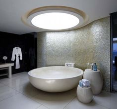 take a long hot bath in a bowl bath tub, a unique must have for your chic master bath #bath #Tub #Bathroom #ibtsdiego