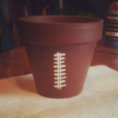 Football flower pot