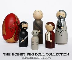 Hobbit and LoTR peg figs #Hobbit