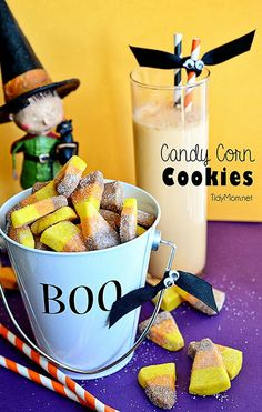 Candy Corn Cookies by TidyMom for Spooktacular September - Such a fun Halloween treat!!