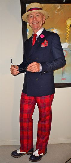 Happy Canada Day! - Gant Rugger DB blazer, Zara shirt, Penguin tie, cotton plaid pants,John Fluevog tri-tone brogues…