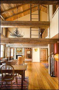 exposed beams, pole barn houses, dream homes, barn living, barn conversions, pole barns, barn homes, wood beams, old barns