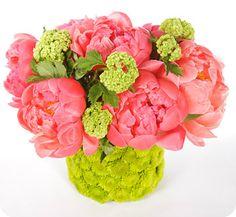 flower arrang, peoni arrang, spring flowers, idea, color combos
