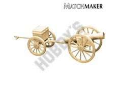 This Matchmaker Cannon and Limber includes everything needed to make this matchstick model kit.  Included are all the pre-cut card formers along with the glue, matchticks and full instructions. These instructions will guide you through each stage of the construction until you finally achieve the finished product.  We would highly recommend this Matchmaker Cannon and Limber.    Approx finished length 317mm.