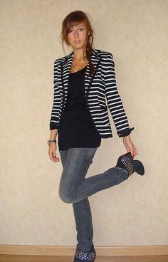 Striped Blazer ~Striped Jacket #jamesfaith712 #sasssjane #StripedJacket #fashionjacket www.2dayslook.com
