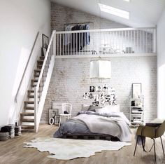 Storage solution. Warehouse bedroom