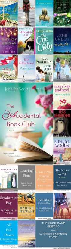 2014 Must Read Books this summer - These look like light, easy reading.