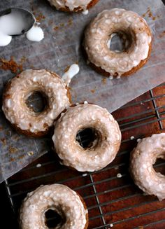 Glazed Gingerbread Donuts from Culinary Couture....perfect for Christmas breakfast! | Friday Christmas Favorites from www.andersonandgrant.com