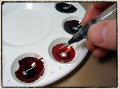 Tim holz tutorial. Painting with alcohol ink