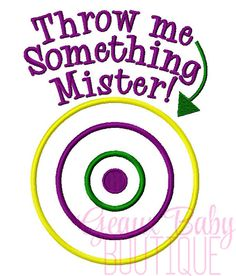 Throw Me Something Mister Machine by GeauxBabyBoutiqueLA on Etsy, $4.00