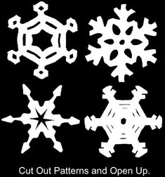 How to Make Circle Paper Snowflakes – 4 Patterns « Christmas Crafts « Holiday Crafts For Kids «