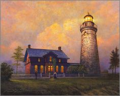greg olsen art | Greg Olsen - Fairport Lighthouse: ART