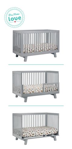 The Babyletto Hudson 3-in-1 convertible crib converts to a toddler bed or daybed. Get it now for your baby's nursery and use it for many years.