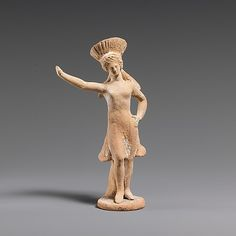 Corinthian terracotta statuette of a dancing girl, Late Classical, 4th century BC. The Metropolitan Museum of Art, New York.