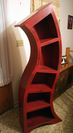 6FT Distressed Red by WoodCurve on Etsy, $725.00