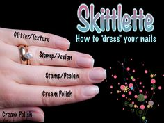 Skittlette Nail Art Tutorial- How to Dress your Nails, by ChitChatNails. pinned by www.SimpleNailArtTips.com #nails #nailart #tutorial #skittle #skittlenails #skittlette