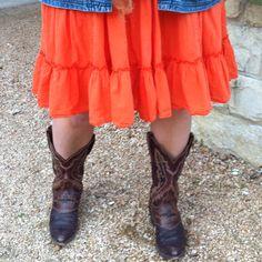 Orange Skirt!   Goodwill Find!