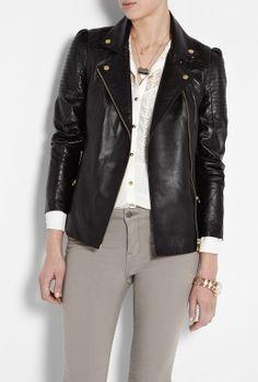 Callas Leather Biker Jacket by ALICE By Temperley