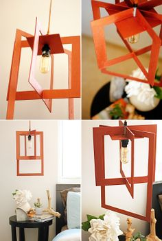I don't know how she does it : Copper lamp from craft plywood