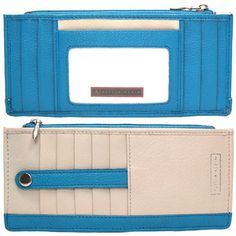 Turquoise Slim Wallet by Alicia Klein, $49.00 slim wallet