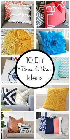 10 DIY Throw Pillow Ideas - www.classyclutter.net