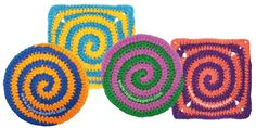 How to knit two-color spiral point to crochet