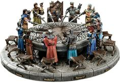 King Arthur and the Knights of the Round Table Sculptural Set    found @ DesignToscano.com