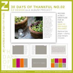Thirty Days of Thankful Layered Templates No. 02 - Digital Scrapbooking
