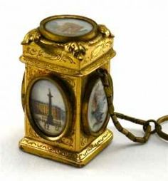 Palais Royale Finger Ring Perfume Bottle c1850