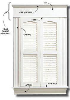 Trim and molding ideas on pinterest moldings window for Parts of an exterior window