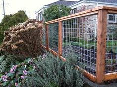 Cattle panel & wooden fence - i actually kind of like this solution. maybe not for street-side of fence, but $ saver for other areas of the yard.