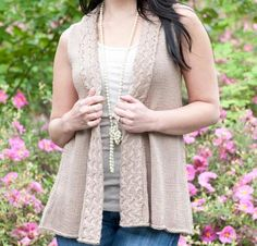 Amalfi Shawl Vest Kit - Knitting Kit includes Yarn & Pattern! - Shop Craftsy's premiere assortment of knitting supplies and save! Get the Amalfi Shawl Vest Kit before it sells out. - via @Craftsy