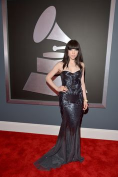 Carly Rae Jepsen arrives at the 55th Annual GRAMMY Awards