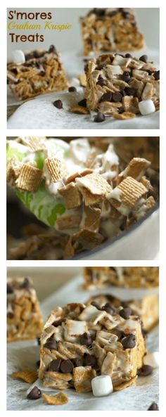 It's like S'mores without the campfire!! S'mores Graham Krispie Treats - Country Cleaver