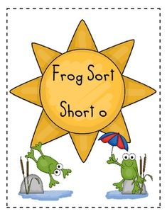 Word Family Sort- Short o (Frogs)