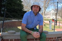 Get some spring fashion inspiration with looks styled by @UDress Magazine. RJ takes a break on the Green in this outfit including pieces from local vendor Switch. UD students can get a 10% discount at Switch with a valid UD ID.
